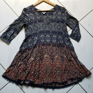 Ecote boho fit flare shift dress soft cute! Urban